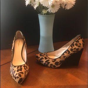 Sassy Halogen leopard print wedge